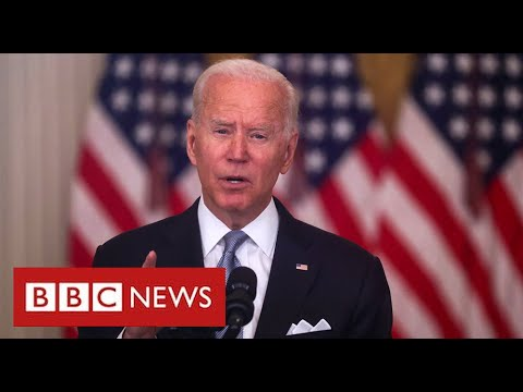 Desperate scenes in Kabul as President Biden defends Afghan pullout - BBC News