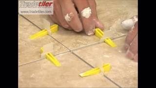 Repeat youtube video Tile levelling Lash Clips from Tradetiler