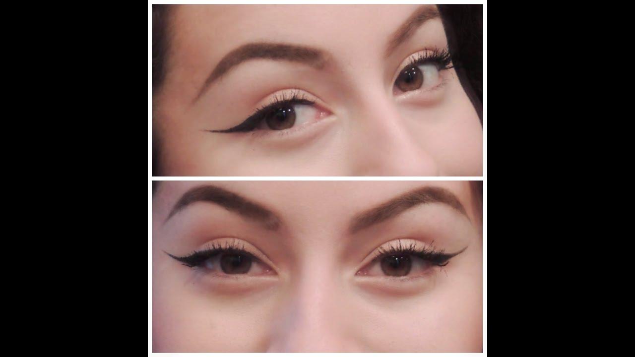 Thin Yet Fierce Winged Eyeliner || Liquid Eyeliner - YouTube