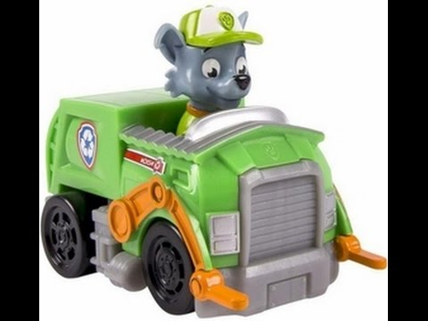 rocky s recycling truck paw patrol toy for kids youtube