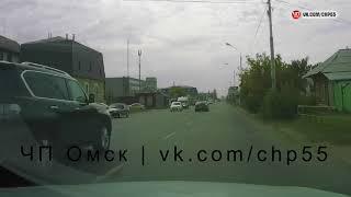 Момент смертельного ДТП в Омске на ул. Герцена (21.08.2017)