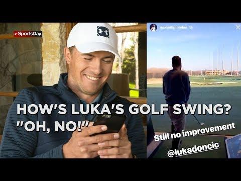 Jordan Spieth critiques Luka Doncic's golf swing