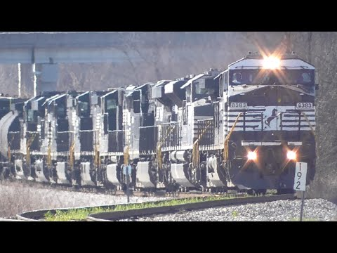 Norfolk Southern Trains in the Heart of Georgia, Part 2/3, Railfanning Macon GA, 03/05/2016