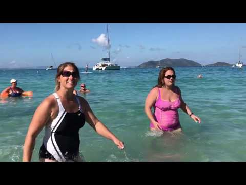 Very Cold Winter Day on Cane Beach. Tortola, British Virgins Islands. January 25, 2017