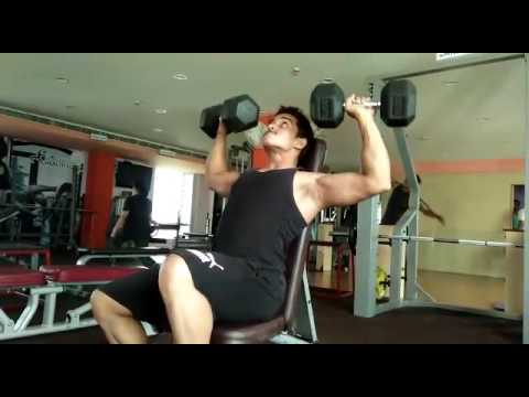 Shoulder workout @bhubaneswar health club