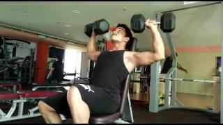 Shoulder workout @bhubaneswar health club