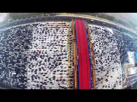 Cảnh tắc đường 50 làn xe khủng khiếp ở Bắc Kinh