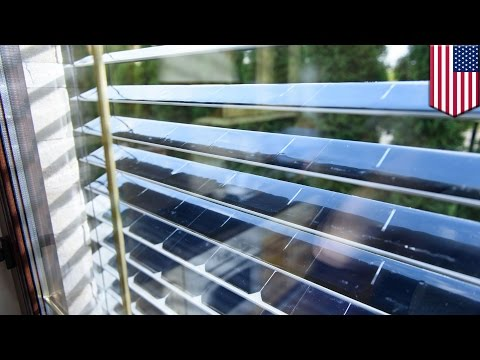 Solar power: Window blinds with solar panels can block and harvest sunlight - TomoNews