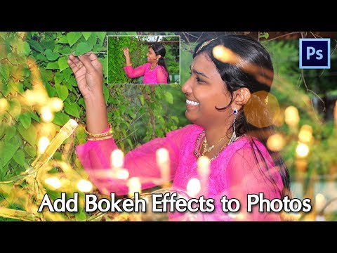 Add Bokeh Effects in 1minute | Photoshop tutorial thumbnail