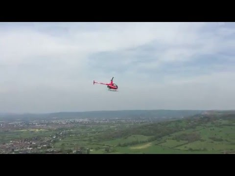 Flying G-JKHT over Cheltenham Gloucestershire Leckhampton Hill