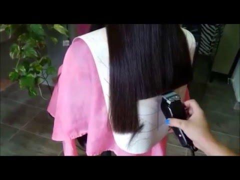 Corte pelo con maquina mujer