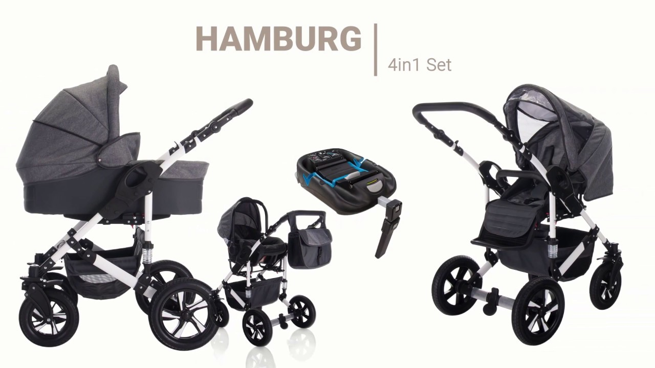 friedrich hugo hamburg 4 in 1 kinderwagen mit isofix
