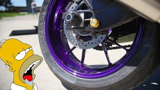 Powdercoating S1000RR Wheels Illusion Purple