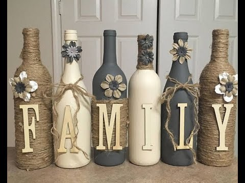Diy Glass Bottle Craft Ideas Youtube