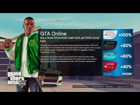 GTA 5 ONLINE BUYING A GREAT WHITE SHARK CARD WILL GET YOU 100% BACK