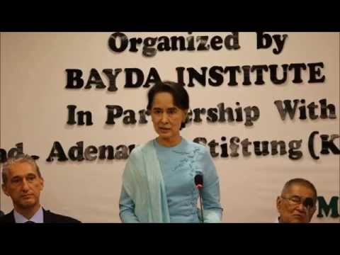 "Daw Aung San Suu Kyi on ""Challenges of Current Transition in Myanmar"""