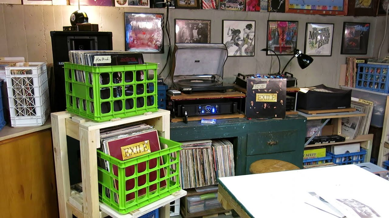 curtis collects vinyl records my new album storage rack exile kiss you all over youtube