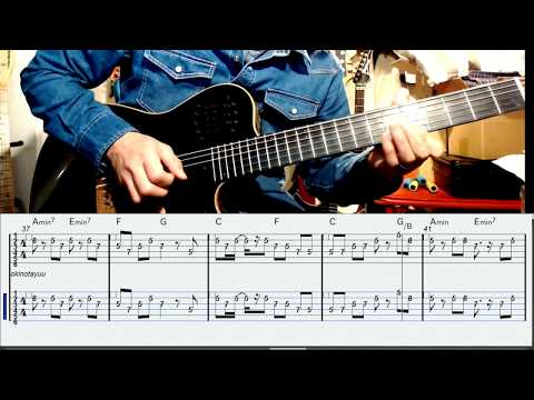 Wagakki Band Okinotayuu gut guitar with TABでギタメロ