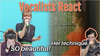 Classical Vocalists React to Wendy's 'Like Water' MV Live Band Performance
