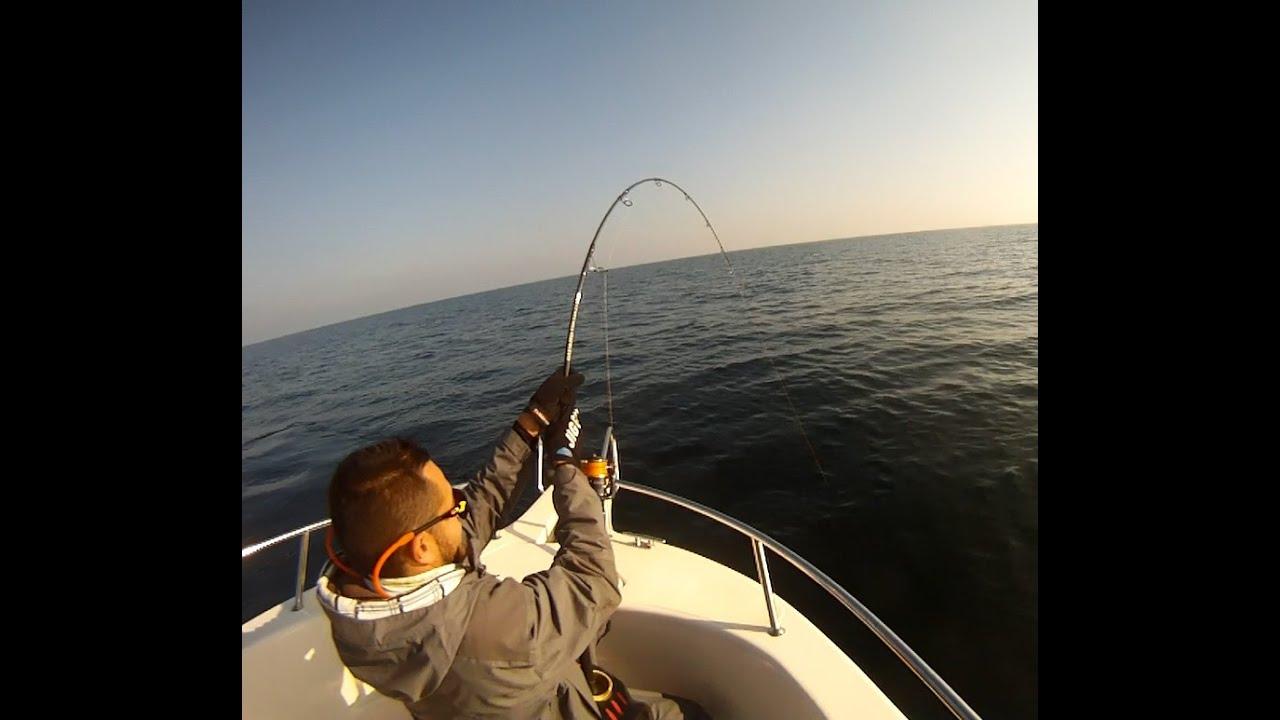 La pesca su una pesce gatto grande