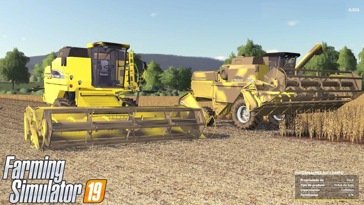 HOJE É DIA DE SAFRA | Farming Simulator 2019 | MINAS SUL #17
