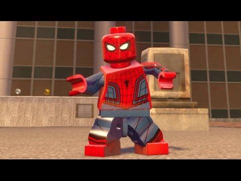 LEGO Marvel Avengers - Spider-Man (Civil War) Free Roam (Spider-Man DLC  Showcase)