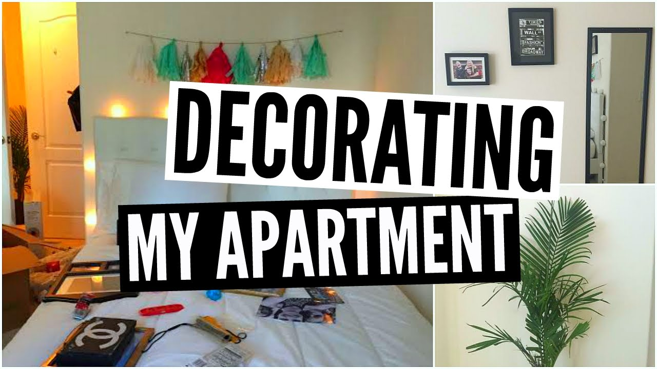 decorating my apartment! - youtube