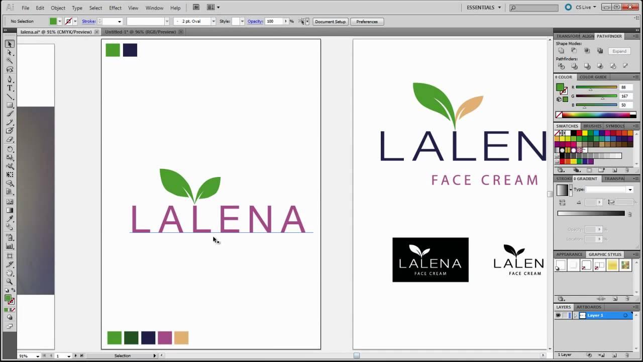 illustrator video tutorials - business logo design tutorial - YouTube