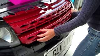 Range Rover Evoque  RED Front Grille Upgrade