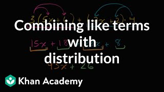 Combining Like Terms With Distribution