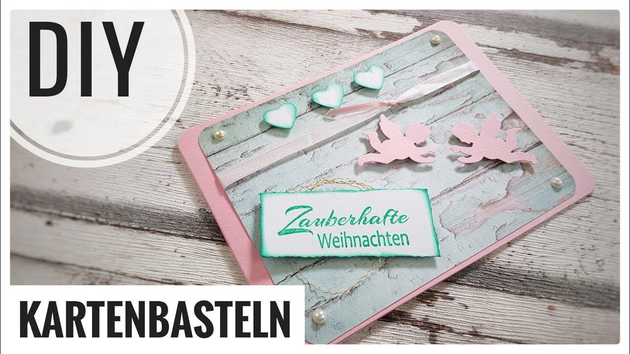 Cool Edle Weihnachtskarten Basteln Galerie Von Rosa / Karte Zum Advent Selberbasteln Diy