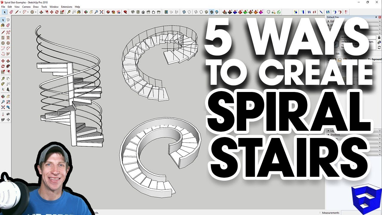 5 Ways to Create SPIRAL STAIRS IN SKETCHUP - The SketchUp