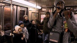 vuclip Crazy Spongebob Beatboxer Amazes Children on New York R Train. Verbal Ase