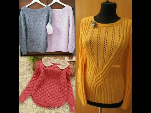 Hand Knitted Girls Sweater Designs Idea Youtube