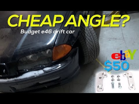 EBAY ANGLE KIT!? - WILL IT WORK?  Budget BMW E46 drift car build