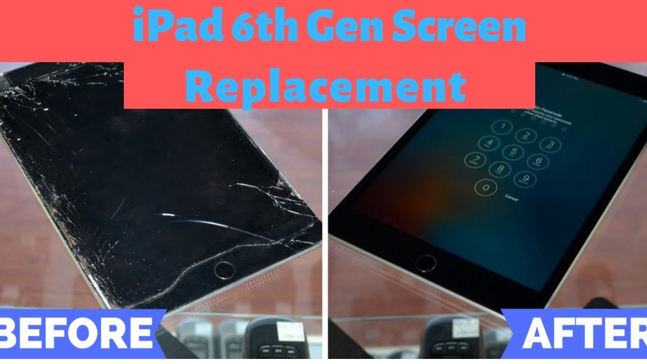 Ipad 6th Generation A1954 Screen Replacement Full Tutorial Youtube
