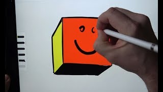 How To Draw A Cube - Space Age Drawing
