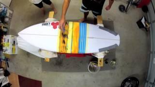 Surfboard Posca Painting