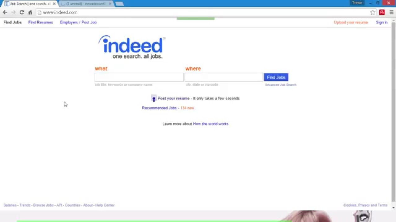 how to create a indeed account and find a job 2017 post your resume on indeed