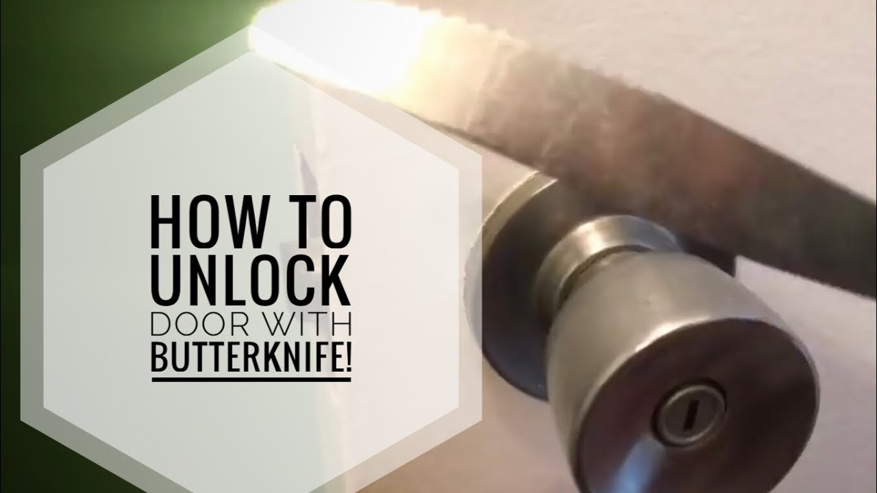 Unlock Bathroom Bedroom Door Using A Butter Knife How To