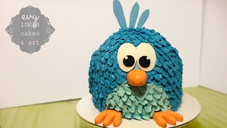 BIRD CAKE! How to make a cartoon bird birthday cake! So cute!