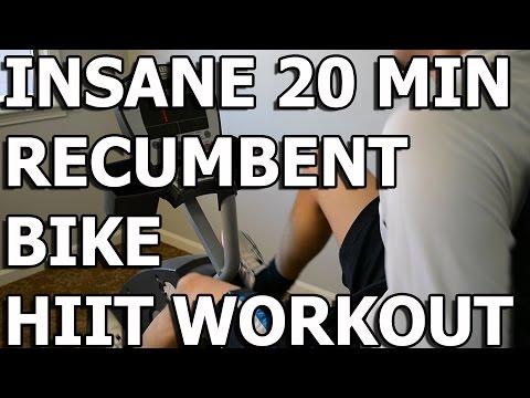 HIIT Workout Insane 20 minute Recumbent Bike Workout