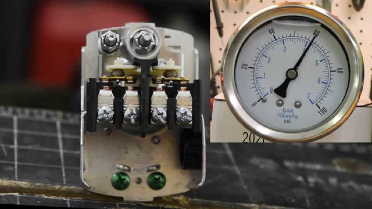 Pressure Switch Adjustment Youtube