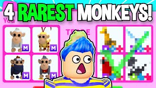 Trading The *4 RAREST* MEGA MONKEYS In Adopt Me!! *RICH* Roblox Adopt Me Trades (TRADE PROOFS)