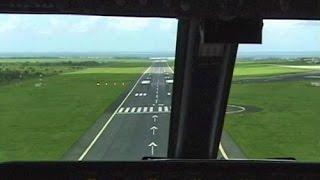 Cockpit Boeing 737-700 AIR SEYCHELLES into Mauritius (2002)