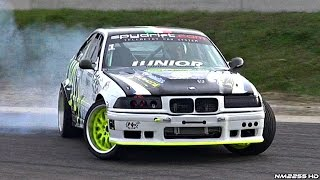 600+hp single turbo bmw m3 e36 awesome sound & drifting