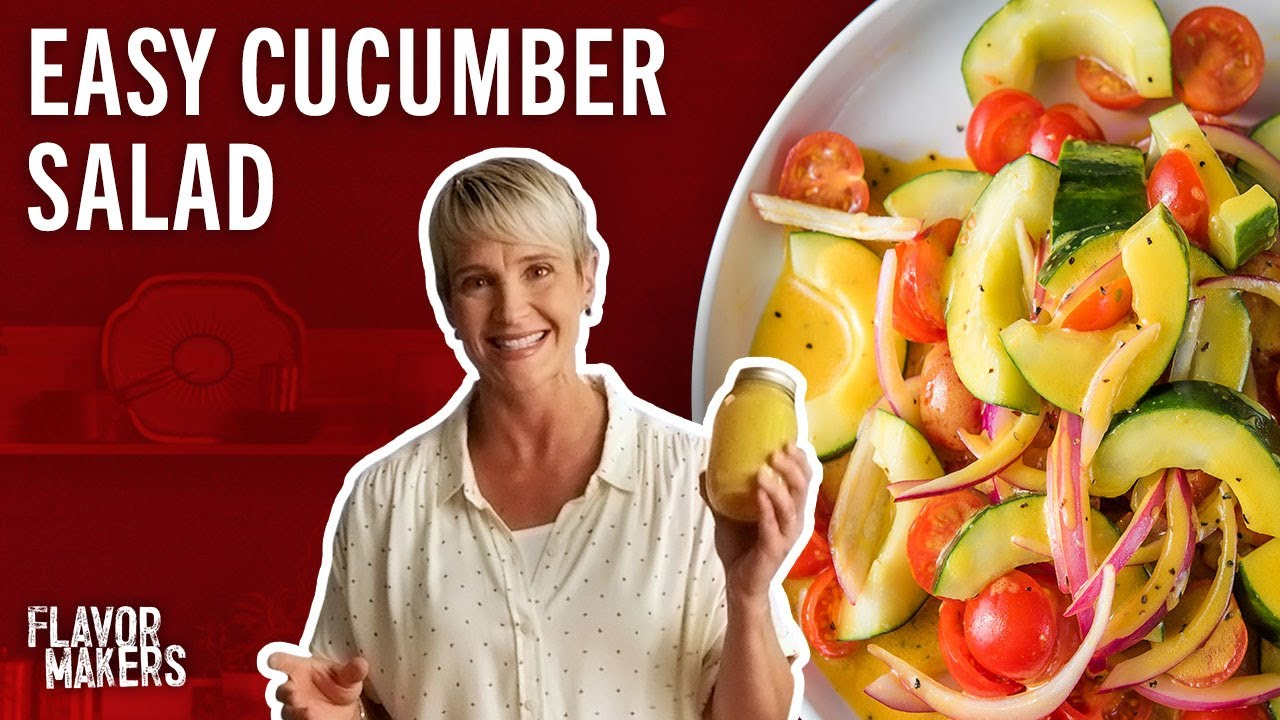 Cucumber Tomato and Onion Salad | Flavor Makers Series | McCormick