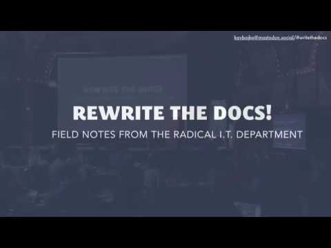 Image from Rewrite the Docs!: Field Notes from the Radical IT department