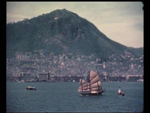 Entering the old Hong Kong harbour in 1960