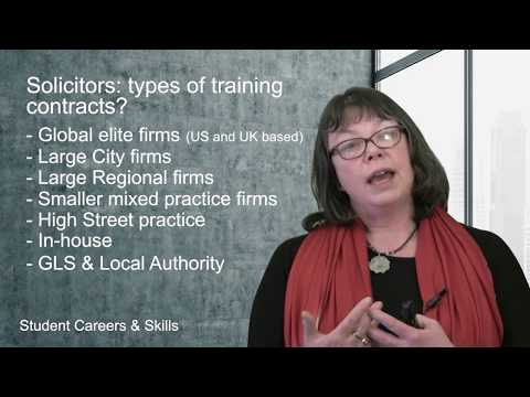 Solicitors: types of training contracts (Routes into Law Part 6/23)
